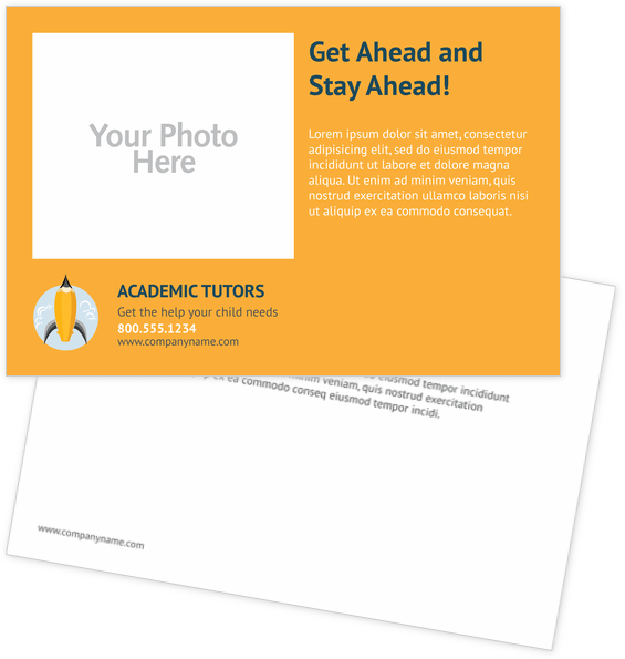 Childcare & Education Postcard Design Template