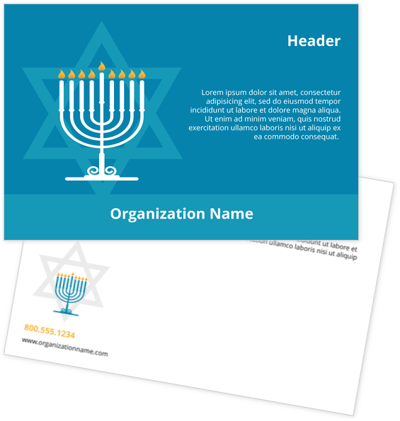 Religion Postcard Design Template