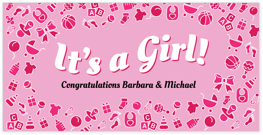 Its-a-girl-banner-template