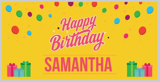 Birthday banner template