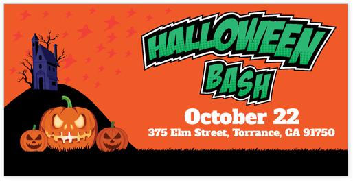 Halloween banner template