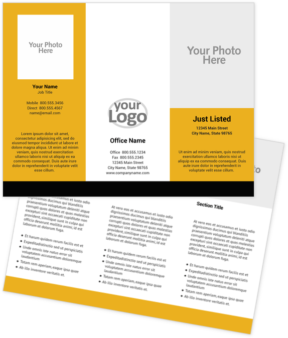 Real Estate Brochure Design Template