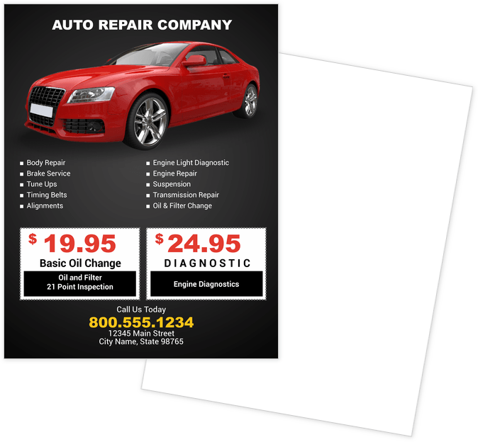 Automotive Flyers Print Templates
