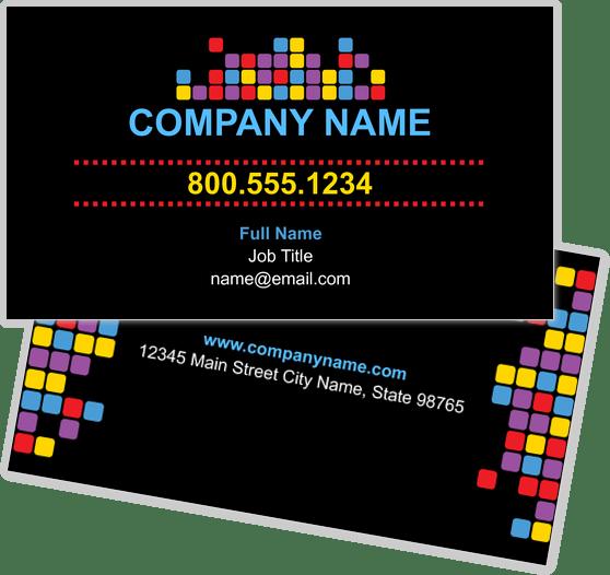 Square Business Cards Design Templates