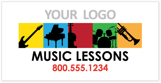 sample banner for music lessons indoor promotions