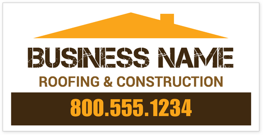 free banner design for roofing company