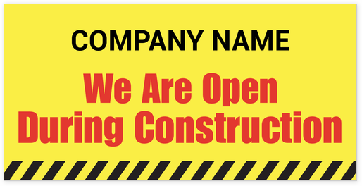 we are open signs template