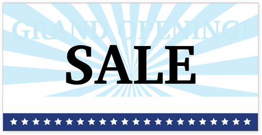 Grand Opening Sale Banner Template