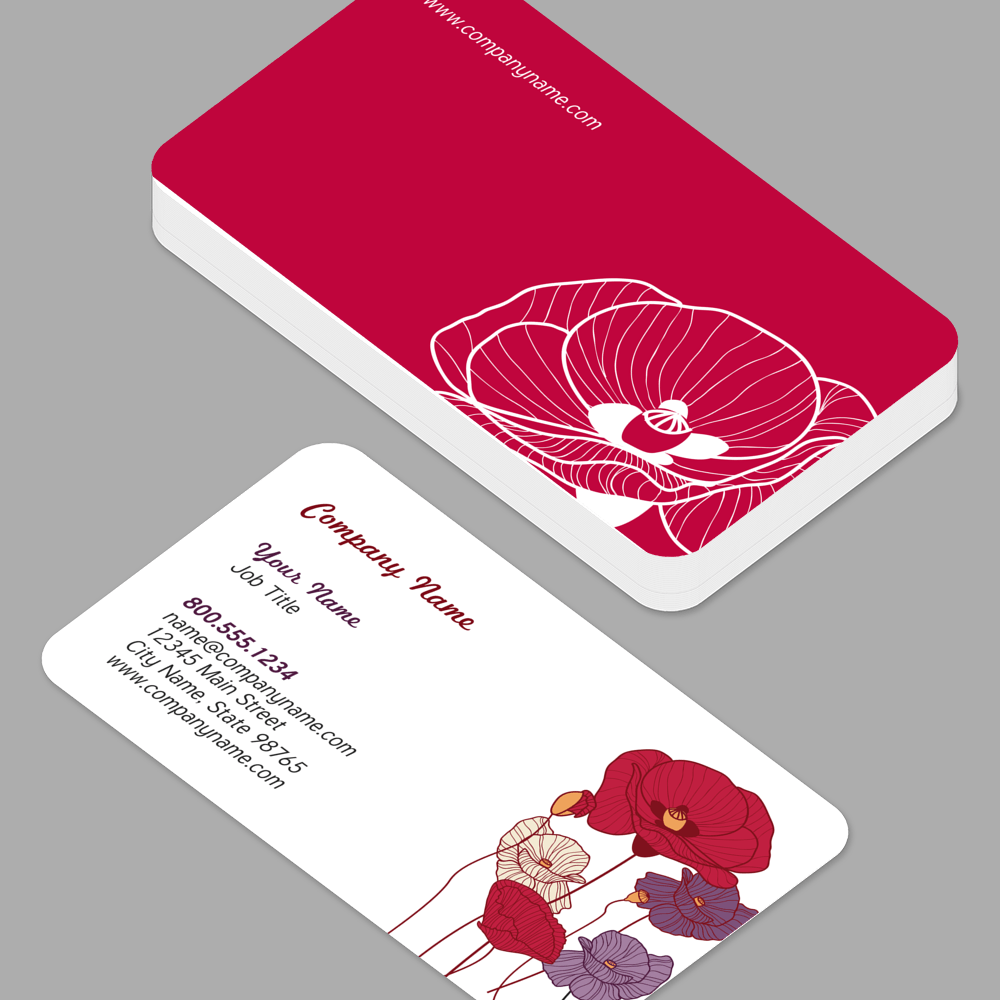 Business cards youprint business cards with rounded corners reheart Choice Image
