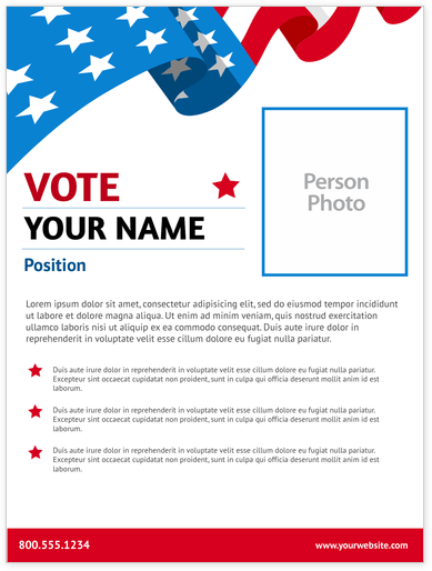 Political Posters Print Templates