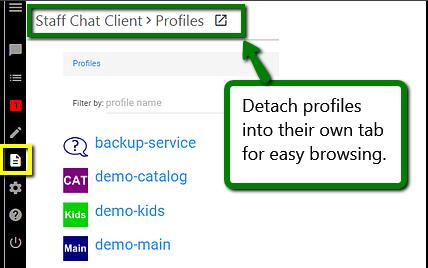 detachable profile viewing
