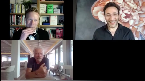 Simon Sinek and Richard Branson