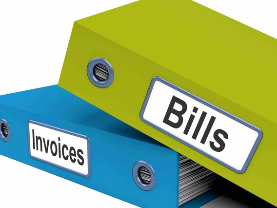 Bills and invoices files show accounting and expenses fjujmmwd