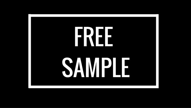 Free sample cover
