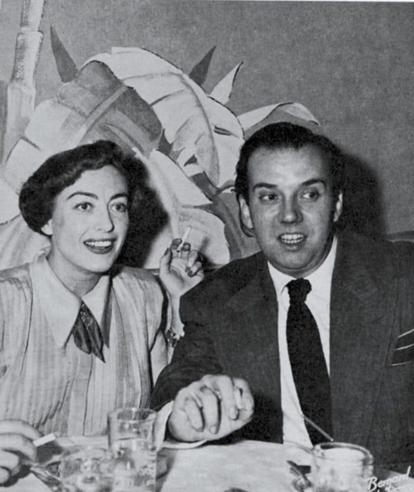 Joan Crawford and impersonator Arthur Blake.