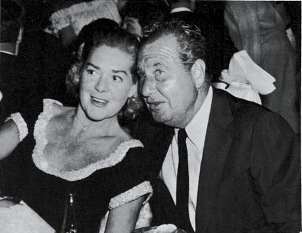 Alice Faye and Phil Harris enjoy a night out.