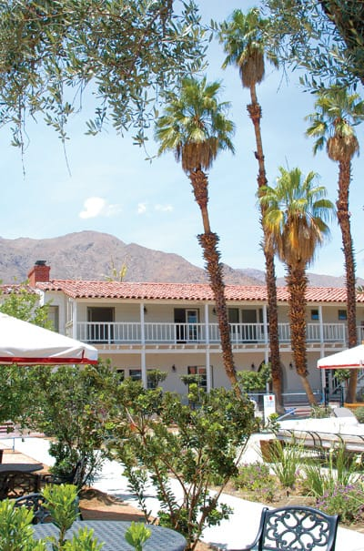 The renovated hotel, a favorite carousing spot in the 1930s and '40s, now has a much more serene environment, but with the same courtyard mountain views.