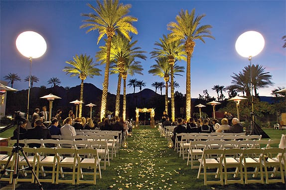 Palm springs weddings event locations venues in palm springs renaissance esmeralda resort and spa enchants wedding guests day and night junglespirit
