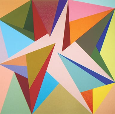 #9 (1990), oil on canvas, 60x60 inches.  ©Karl Benjamin. Courtesy Louis Stern Fine Arts, West Hollywood, CA