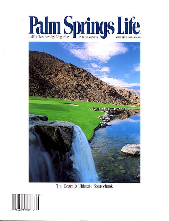 Palm Springs Life magazine - September 2000