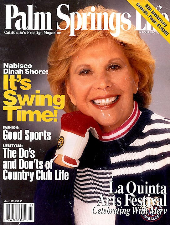Palm Springs Life magazine - March 1993