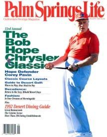 Palm Springs Life magazine - January 1992