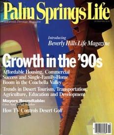 Palm Springs Life magazine - October 1990