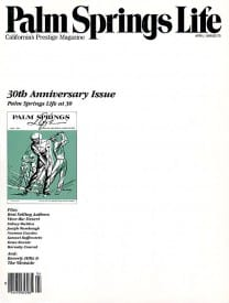 Palm Springs Life magazine - April 1988