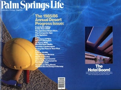 Palm Springs Life magazine - October 1985