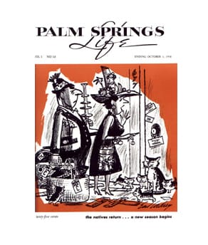 Palm Springs Life magazine - October 3 - 1958
