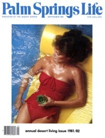 Palm Springs Life magazine - September 1981