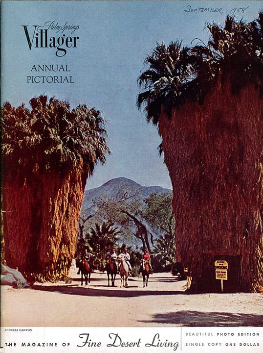 Palm Springs Villager magazine - September 1958