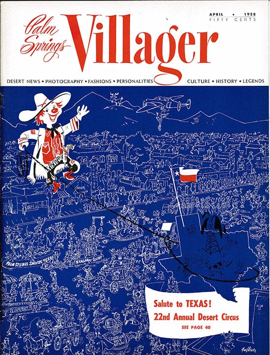 Palm Springs Villager magazine - April 1958