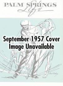 Palm Springs Villager magazine - September 1957