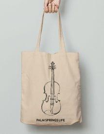 Palm Springs Life Violin Canvas Tote Bag