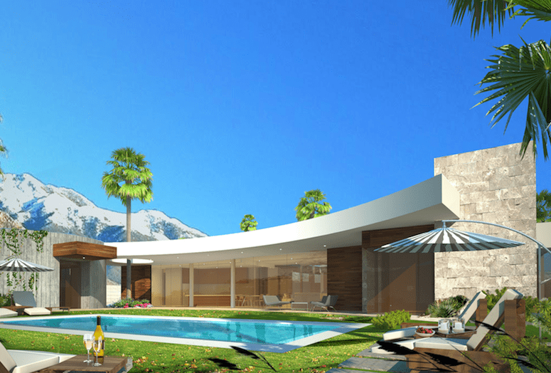 Midcentury modern for New modern homes palm springs