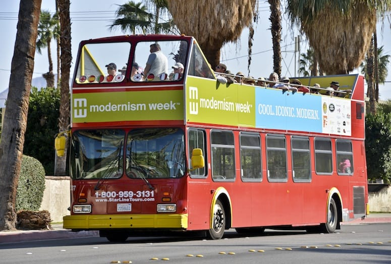 Modernism Week double-decker bus