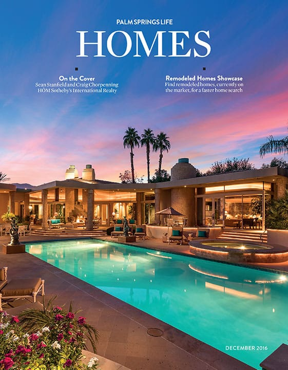 Palm Springs Life Homes December 2016 Cover