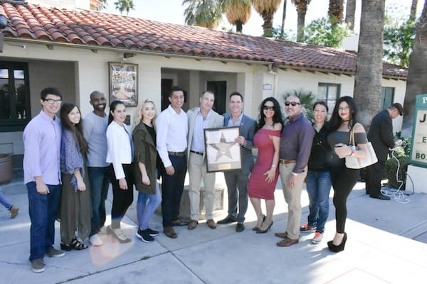 Dr. Timothy Jochen, Lee Erwin Honored with Star on Palm Springs Walk of Stars, Feb. 4, 2017