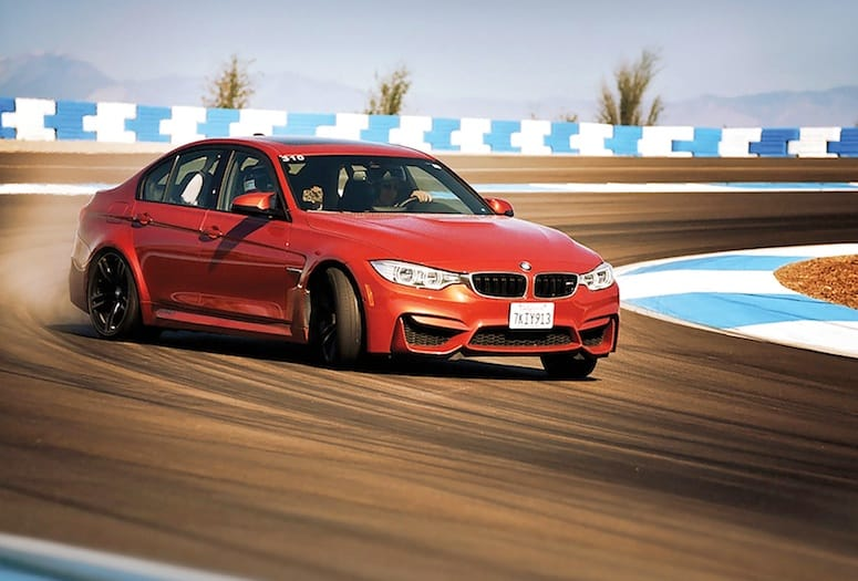 Automobile on the BMW Performance Driving School track