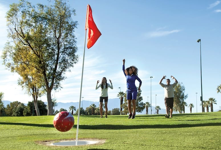 footgolf players score