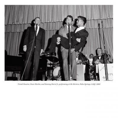 Frank Sinatra, Dean Martin, and Sammy Davis Jr. performing at the Riviera, Palm Springs, Calif., 1963
