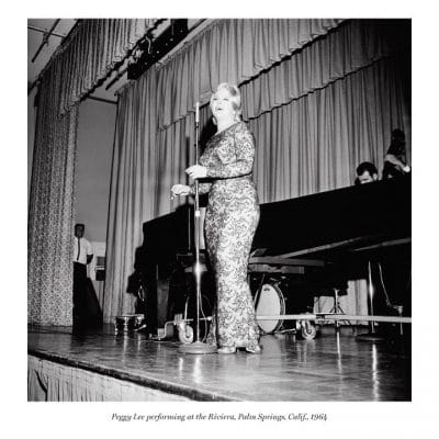Peggy Lee performing at the Riviera, Palm Springs, Calif., 1964