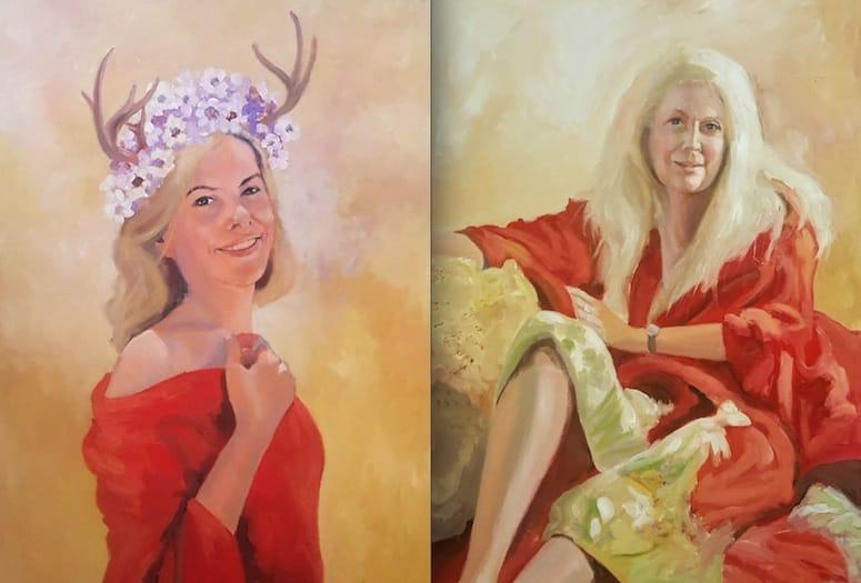 """David Fairrington's """"Red Kimono"""" series"""