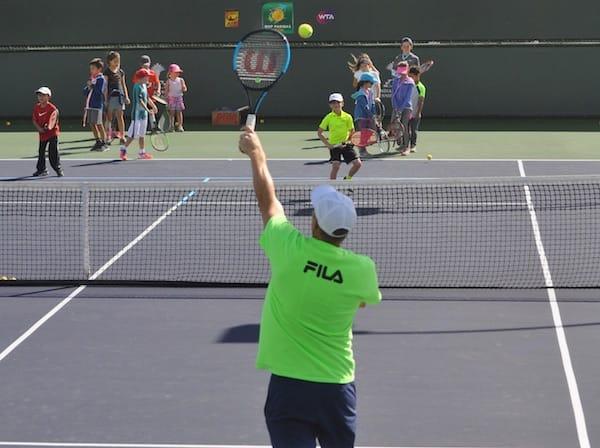 Kids Take Center Court at BNP Paribas Open