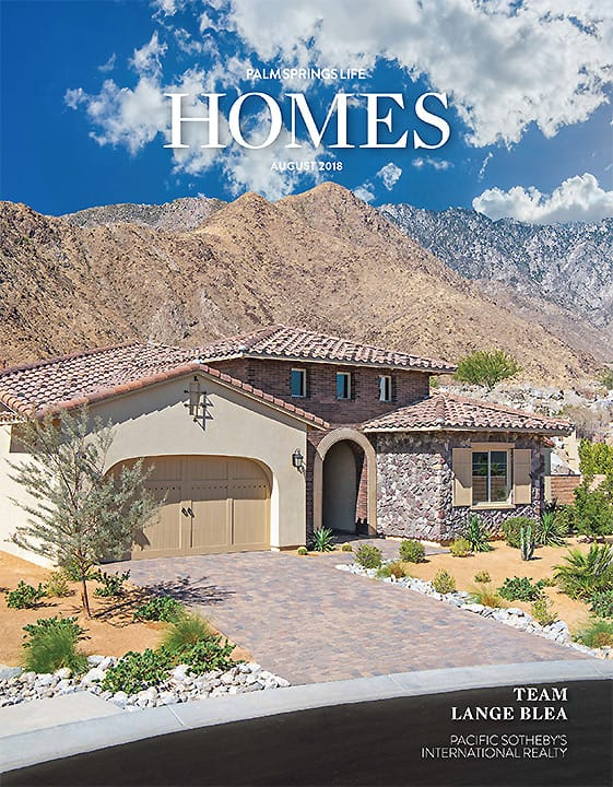 Palm Springs Life Homes August 2018 cover