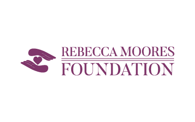rebecca moores foundation logo and logo type /