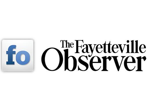 blue f o logo for the fayetteville observer