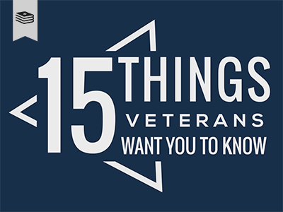 15 things veterns want you to know dark blue background with white text course title