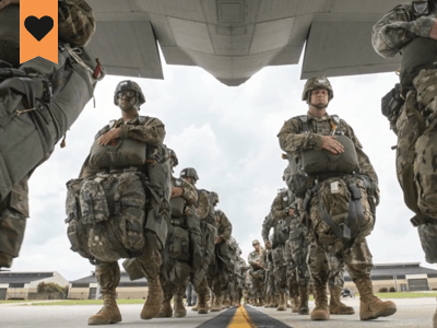 iwow at home ptsd symptoms course image soldiers bording an aircraft